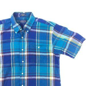 Pendleton Oceanside S/S Plaid Button Front Shirt